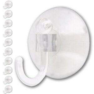 10x EXTRA LARGE Window Suction Cup Hooks Strong Holder Bathroom/Kitchen Display