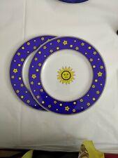 """Villeroy & Boch  2 piatti cm 21,5 """"sun ,moon and stars"""" Paloma Picasso"""