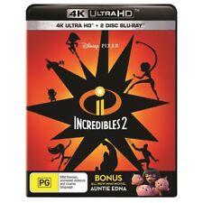 Disney Pixars The Incredibles 2  4K UHD + 2 Disc Blu-Ray New & Sealed