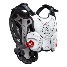 New Adult Alpinestars BNS A1 Body Armour Chest Protector Motocross White M/L