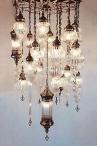 NEW Grace 25-piece Glass Chandelier - hand blown glass made in Turkey