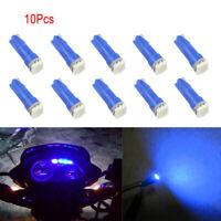 10X Car Blue T5 5050 Car Wedge Dashboard LED Lights Bulbs 2721 73 70 74 17 18 37