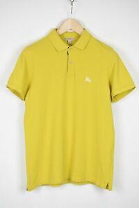 Burberry Brit Hombre Mediano Manga Corta Grueso Amarillo Polo Camiseta 41443_ Es