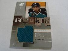 2009-10 SPX Rookie # 139 Benn Ferriero Jersey Card (B23) San Jose Sharks
