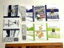 (9) Micro Craft Beer Labels lot sticker Manor Hill