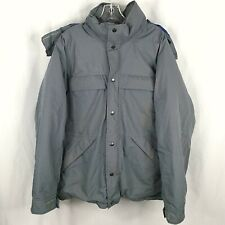 Eddie Bauer Gore-Tex Goose Down Parka Jacket Mens Large Removable Hood Thick