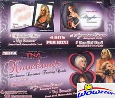 2009 Tristar TNA KNOCKOUTS Wrestling Factory Sealed HOBBY Box-4 HITS w/2 AUTO'S