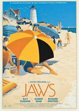 VINTAGE Movie POSTER JAWS Spielberg Film Advertising Movies Art Print A3 A4