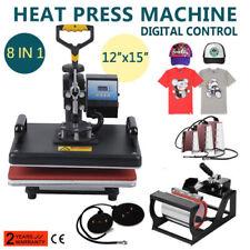 8 in 1 Digital Heat Press Machine Transfer Sublimation Swing-away DIY Printer AU