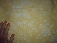 ancien tissu textile coupon toile matelas coutil jaune clair fleur 155x200 cm