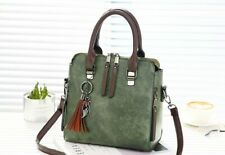 Vintage Synthetic leather Ladies HandBags Women Army Green Girls Bags Shoulder