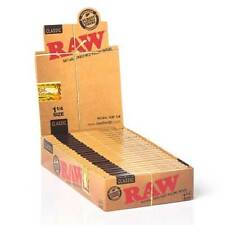 Raw Classic 1.25 1 1/4 Rolling Papers Full Box of 24 Packs 100% Authentic