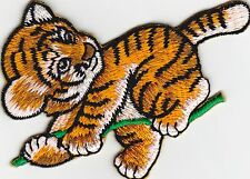 iron on Patches embroidered Patch cute playing baby Tiger free shipment -a7i7