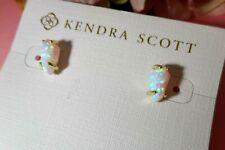 Kendra Scott Jillian White Kyocera Opal Earrings NWT