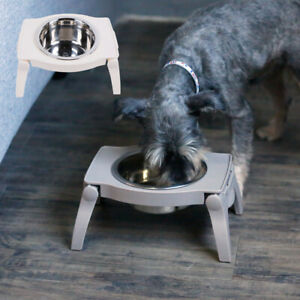 Elevated Raised Dog Bowls Stainless Steel Food Water Feeder Stand Small & Large