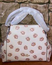 Coach Edie Shoulder Bag 28 Rose Print Chalk (with dust bag) ~ NWT MSRP:$350