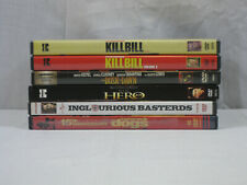 Quentin Tarantino 6 movie Dvd lot Hero, Kill Bill, Reservoir Dogs. Vg