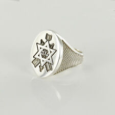 Masonic Secret Monitor Ring Hallmarked in Solid Silver