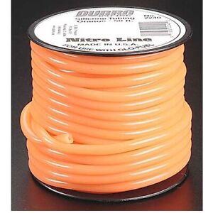 NEW Dubro Orange 50 Feet Nitro Line Tubbing for glow powered Airplane Engines