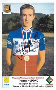 2002 CARTE OFFICIELLE CYCLISME CHARVIEU CHAVAGNEUX IC HUPOND THIERRY SIGNEE