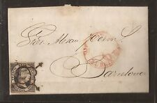1851 Carta Circulada de Aguilas a Barcelona Edifil 6 VC 47,00 €