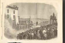 1862 NEW HARTLEY COLLIERY PIT FATAL ACCIDENT REMOVAL OF THE COFFINS