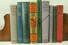 lot 8 vintage old Children's books The Codfish Musket Campfire girls decorators