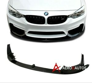 14-19 BMW M3 F80 F82 M4 Performance Front Bumper Lip Spoiler Splitter 3 Piece