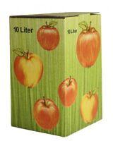 1Stück 10 Liter Bag in Box Karton in Apfeldekor