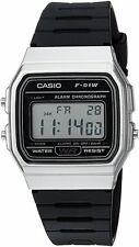 Casio F91WM-7A Men's Retro Black Band Silver Case Alarm Chroograph Digital Watch