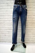 Jeans PEPE JEANS Uomo Taglia 30 Gamba Dritta Pantalone Blu Cotone Pants Hose