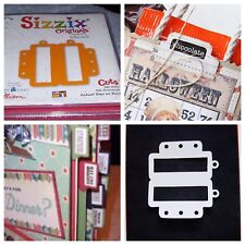 Sizzix Die Originals Rectangle Tab W/ Frame Folder Scrapbook Diecut Retired NEW