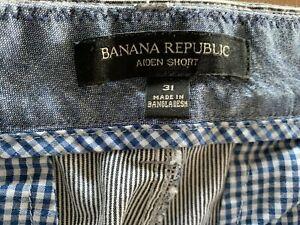 Banana Republic Aiden Chino Shorts Pinstripe Men's Size 31 NWT