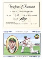 .1994 DON BRADMAN LIMITED EDITION LARGE FORMAT CARD & COA THE CRICKETING KNIGHTS