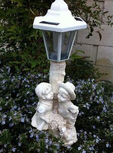 Outdoor Garden Decor Solar Fairy Angel/Cherub Statue Sculpture Light LED