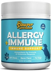 Allergy Relief & Immune Support Chews Probiotics Omegas Colostrum Anti-Itch USA!
