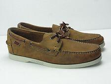 SEBAGO Docksides Men's Tan White Boat Shoes Size 11