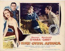 Maureen O'Hara, Macdonald Carey Lobby Card FIRE OVER AFRICA (1954) aka Malaga
