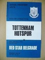 1972 UEFA Cup 3rd RD 1st Leg- TOTTENHAM HOTSPUR v RED STAR BELGRADE