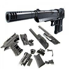 Kids Toys Gun Desert Eagle Blocks Pistol Toy Gun With Silencer Children Cosplay