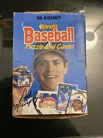 1988 DONRUSS Baseball Wax Pack Box - Rookies: GLAVINE, ALOMAR