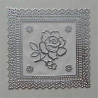 10Pcs Elegant Dining Mat Decoration Tea  Gold Flower Lace Drink Pad LI