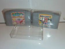 3 x nintendo 64 game cartridge protector .4 thick pet n64 sample pack