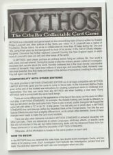 Mythos Ccg Standard Set - Rulebook - New Condition