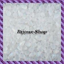 25 Perles de boheme goutte 9x6mm coloris Cristal mat ab