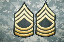 US Army MALE Master Sergeant MSG E-8 Dress Green Class A Military Patch Rank
