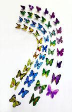 4 Sets of 48 Butterflies Refrigerator Magnets 3D Wall Sticker