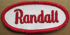 RANDALL small Name PATCH for Shirt or Jacket, cloth tag for Uniform