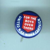 WWI old pin button promoted aid to GIs miniature mini