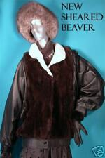 NEW W T SHEARED BEAVER FUR FASHION JACKET SM-MED 8-10l'